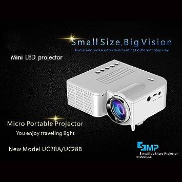 Lorenlli Ajuste UC28B + Proyector para el hogar Mini Proyector ...