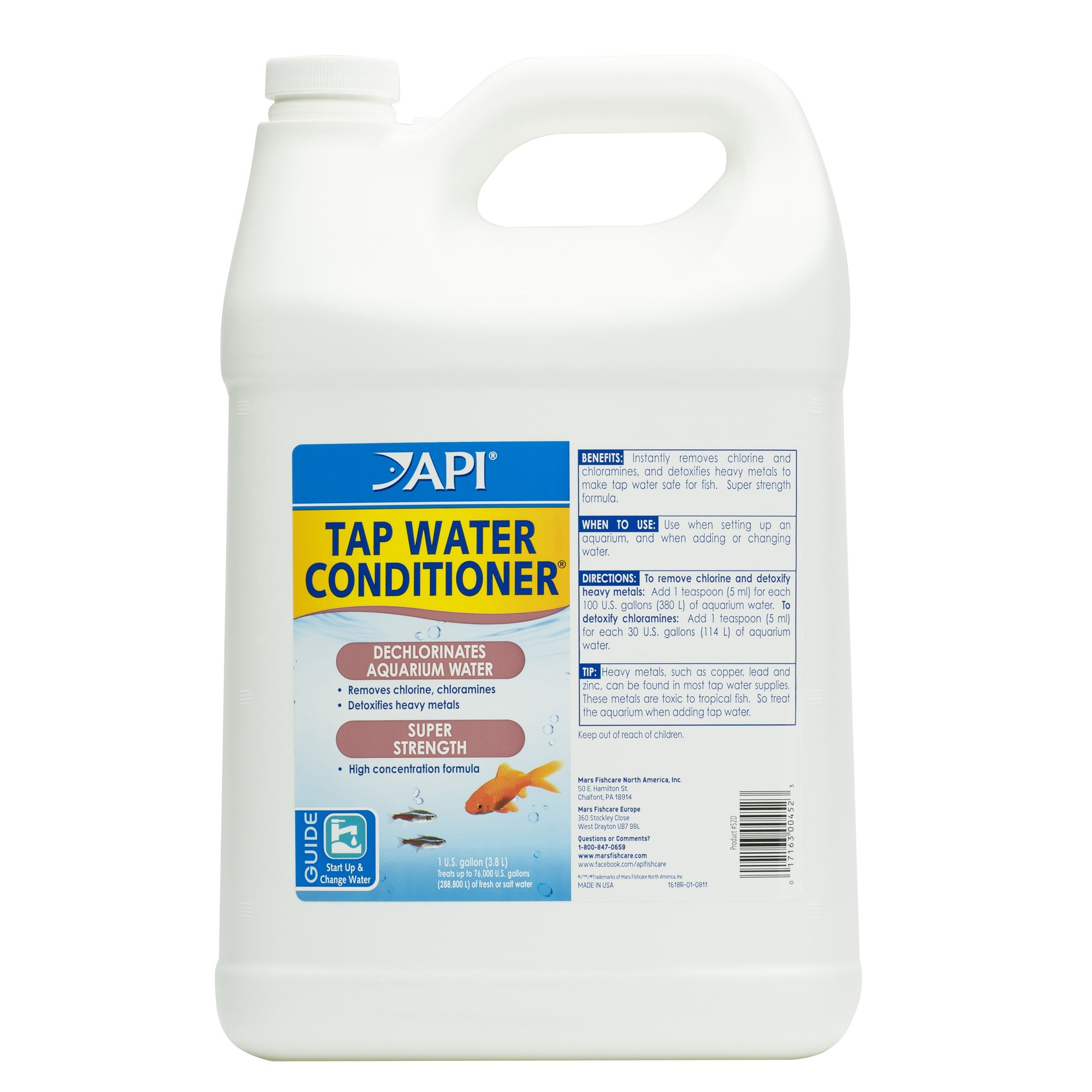 API Tap Water Conditioner Aquarium Water Conditioner 1 Gallon Bottle by API