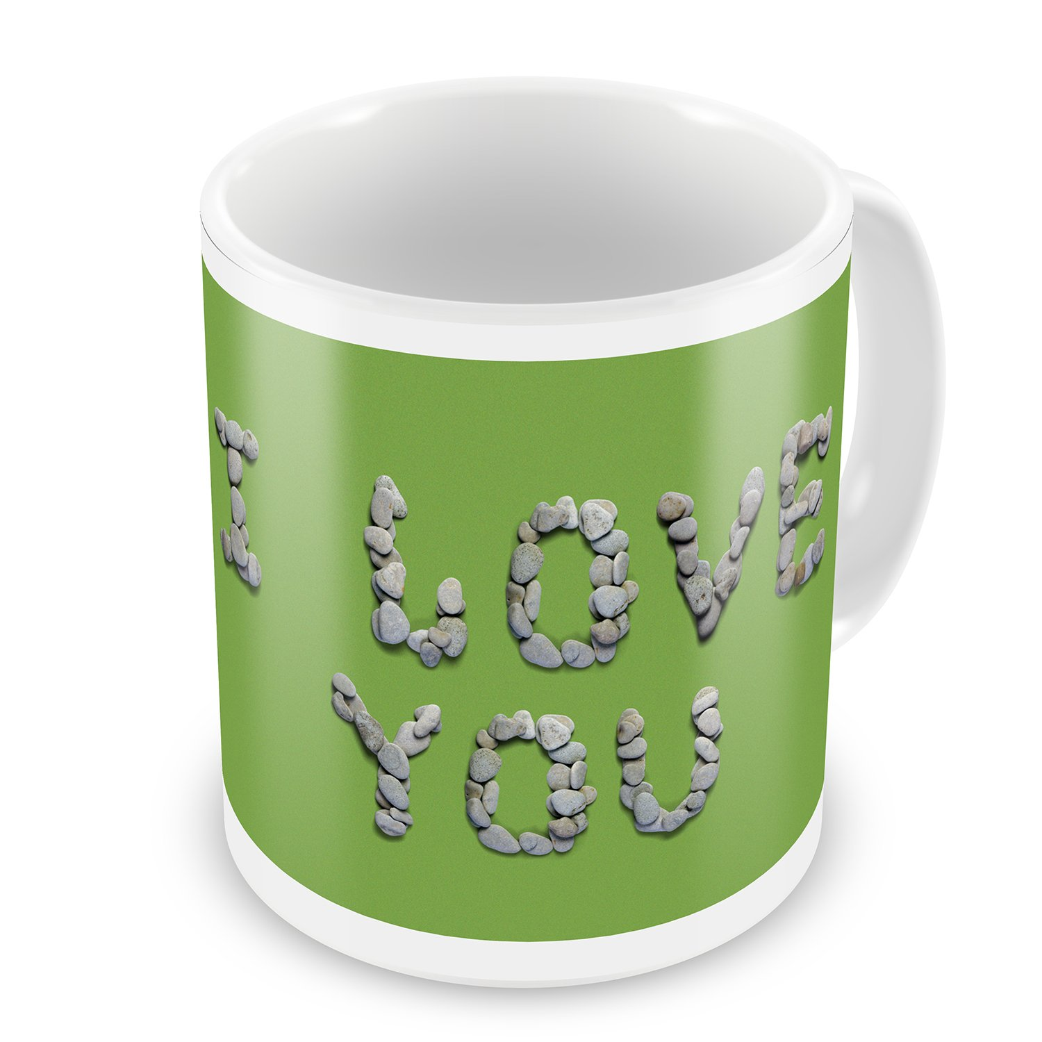 Coffee Mug I Love You Spa Stones - NEONBLOND
