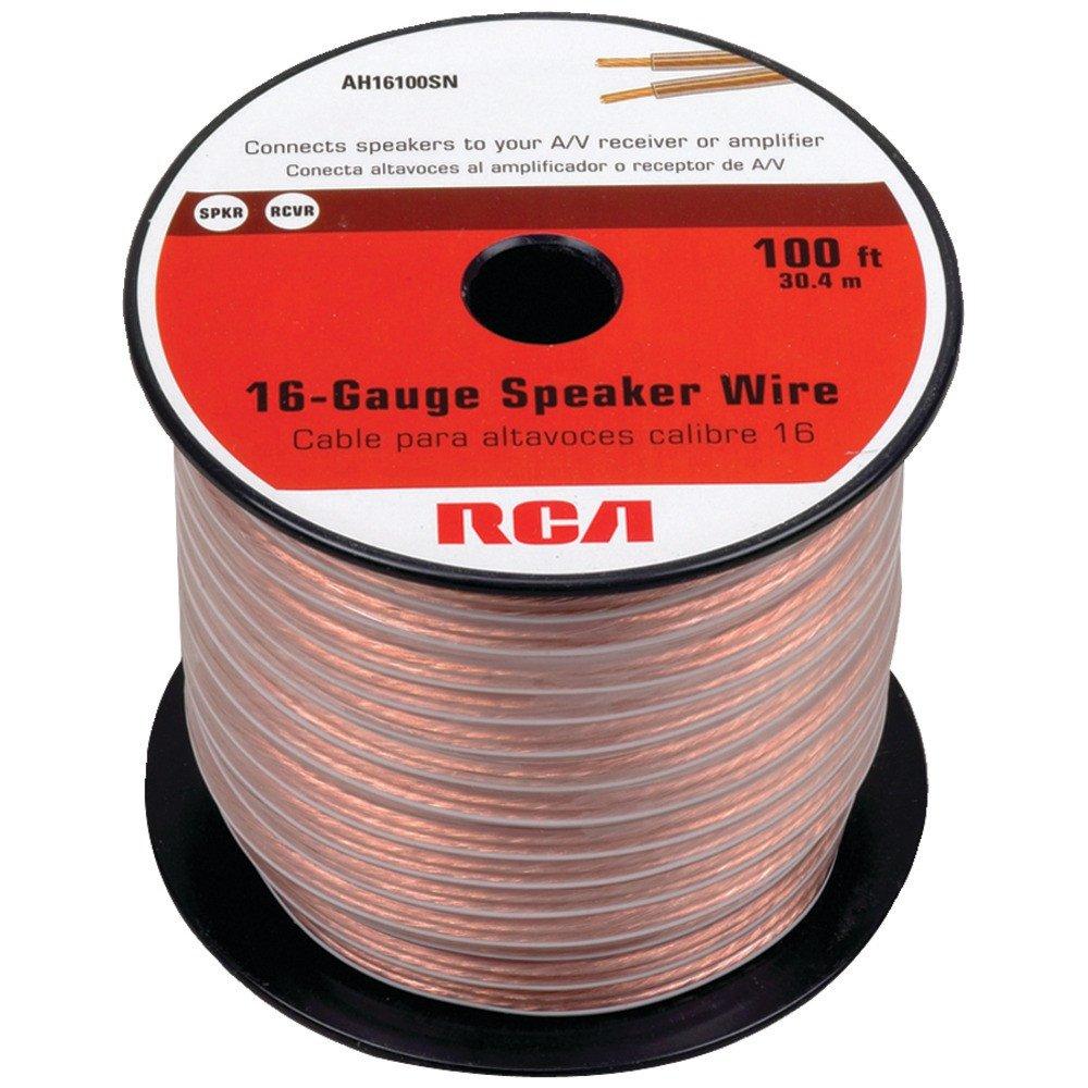 Rca 16 Gauge Speaker Wire 100 Ft Ah16100sr Wiring Speakers To Receiver 44476060977 Everything Else