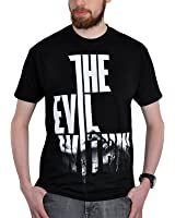 T-shirt sur le thème du jeu The Evil Within Wired coton noir