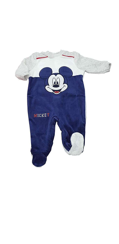 Tutina Mickey Mouse in ciniglia con piedini per bambino ART. WQ 2005