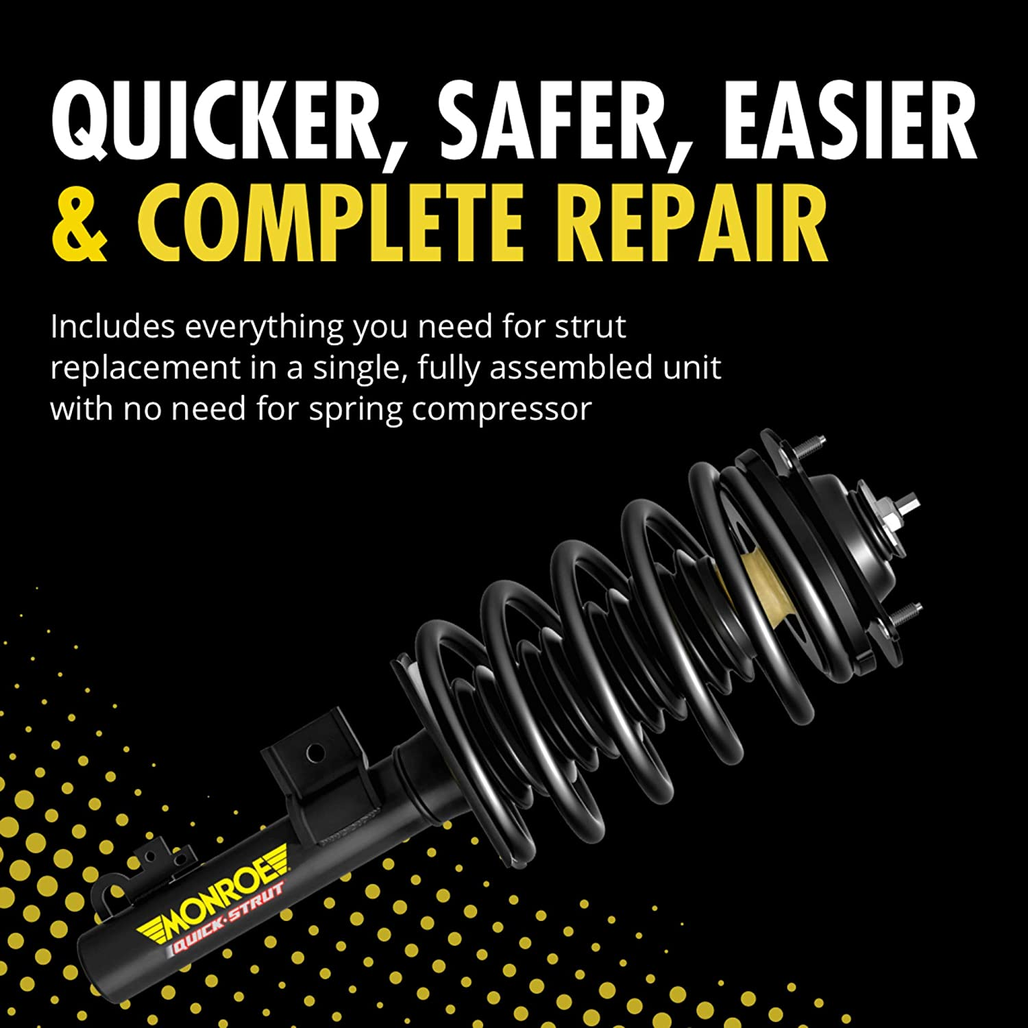 Monroe Shocks /& Struts Quick-Strut 172322R Suspension Strut and Coil Spring Assembly