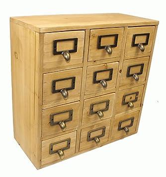 Cajones archivadores de madera diseño semillas de especias para invernaderos diseño Industrial: Amazon.es: Hogar