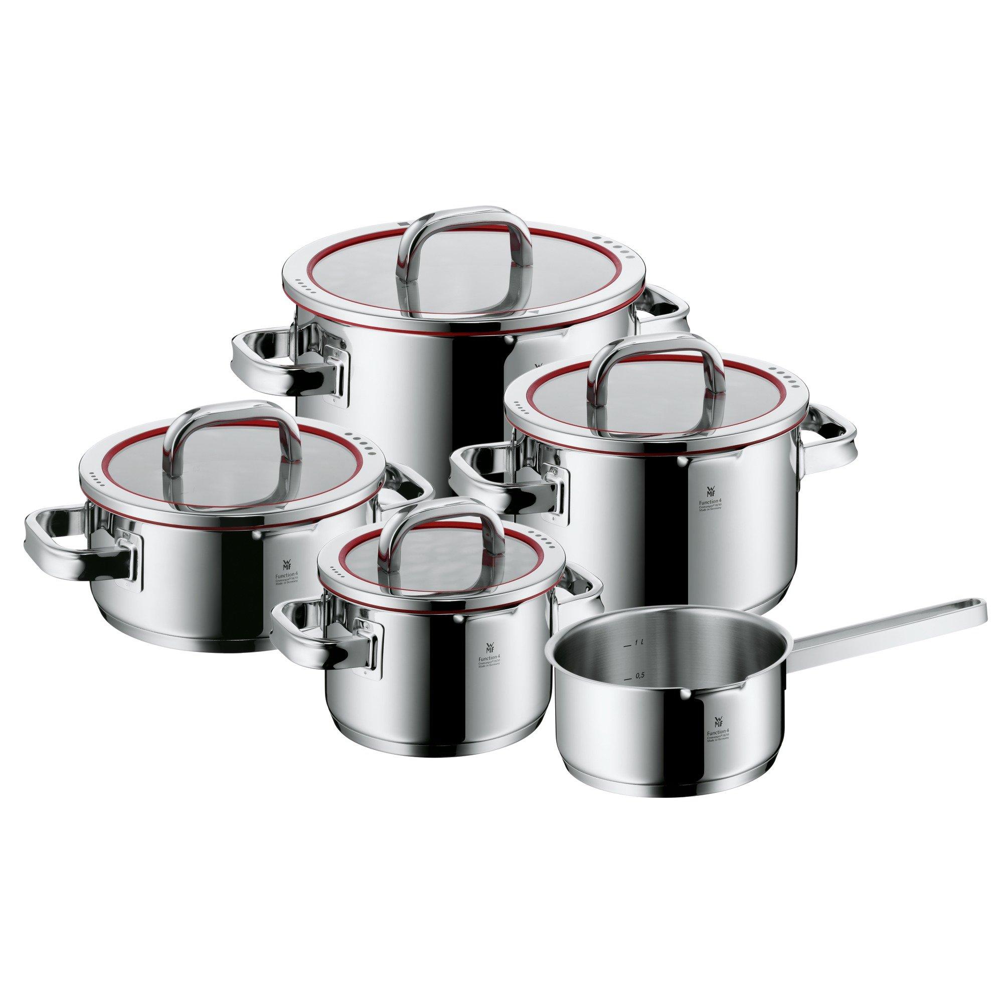 WMF Function 4 - Batería de Cocina, Cromargan Acero Inoxidable, 1 Cacerola de 16