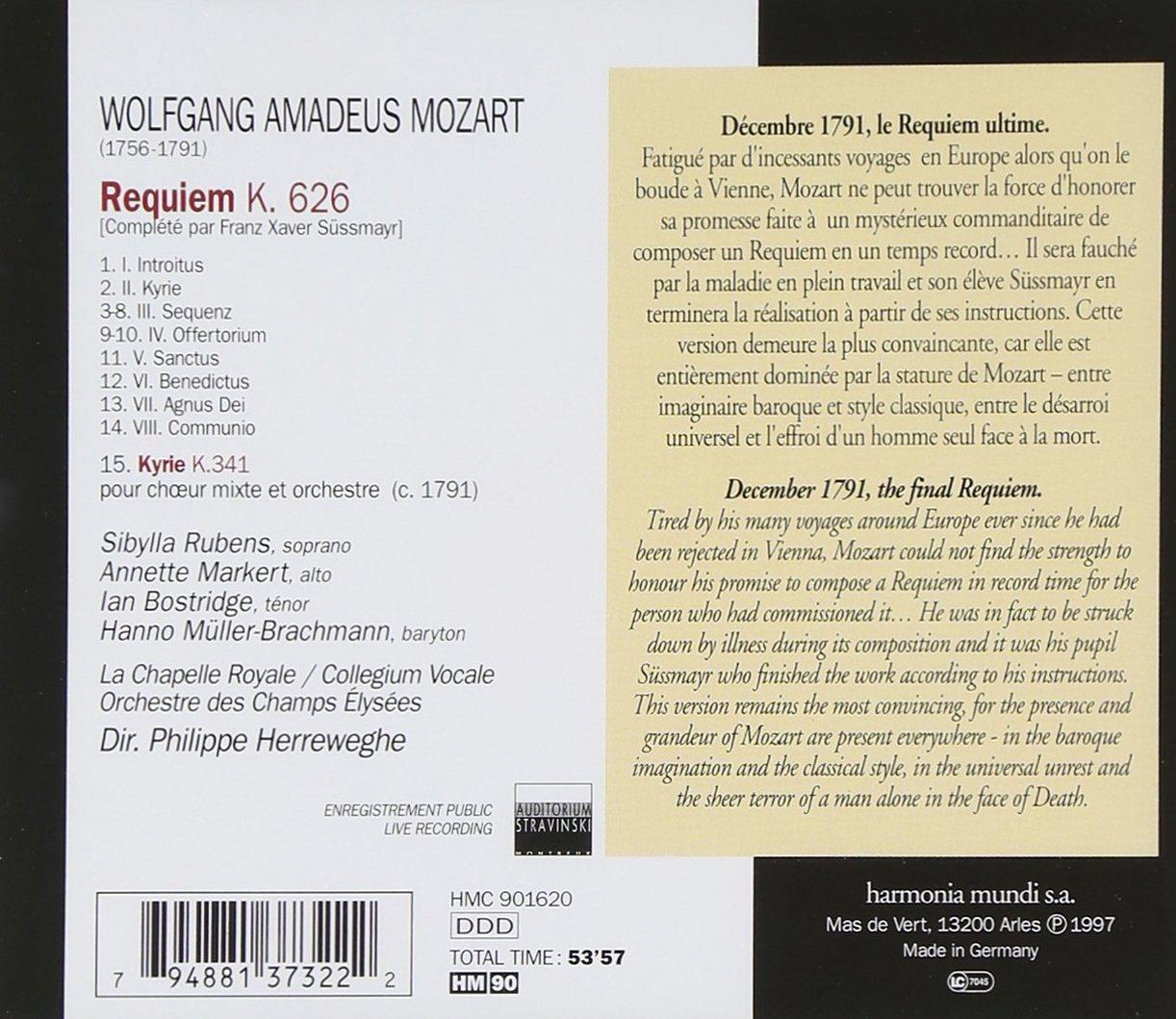 Mozart: Requiem K.626 / Kyrie K.341