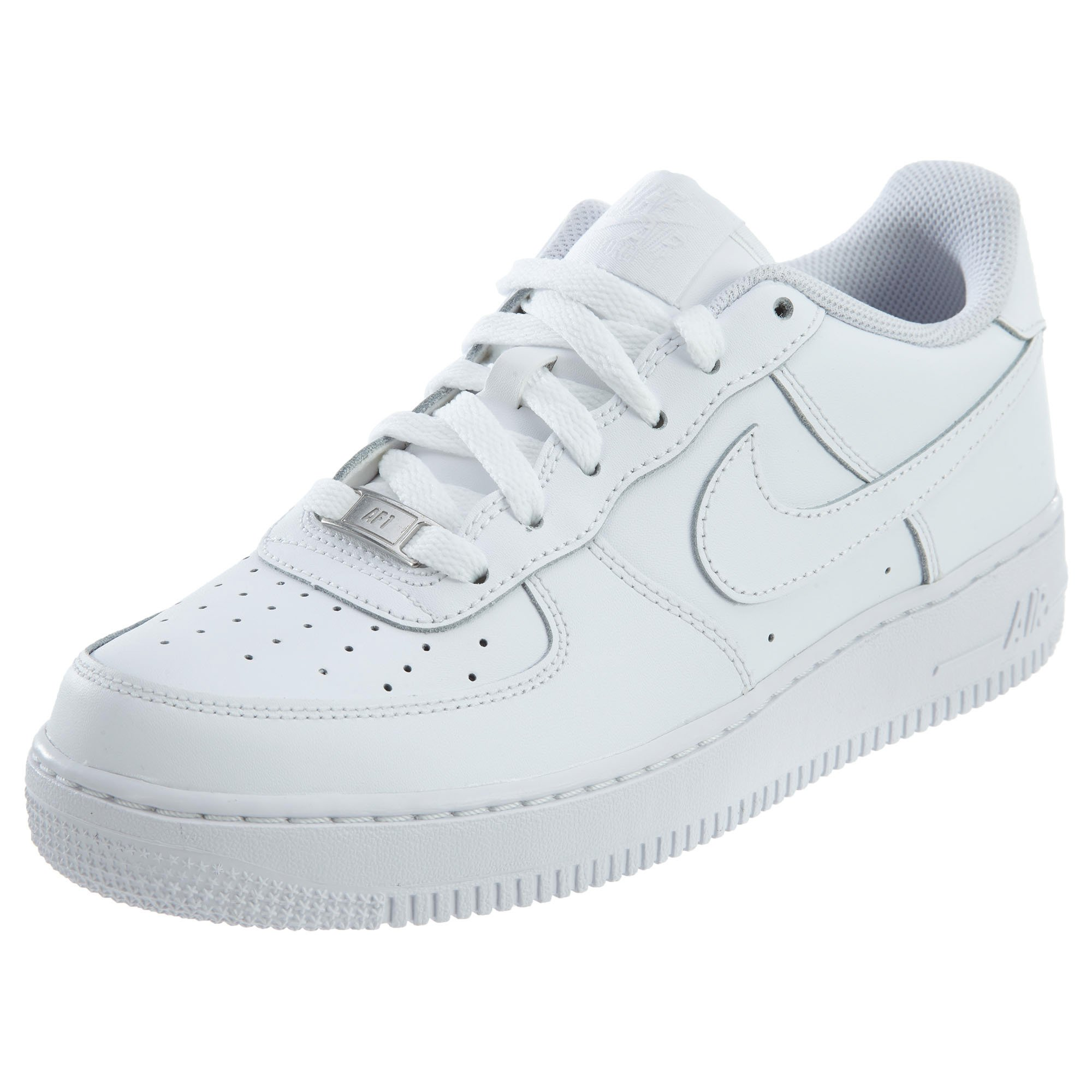 95bceab016f Galleon - Nike Kids Air Force 1 (GS) White White White Basketball Shoe 5.5  Kids US