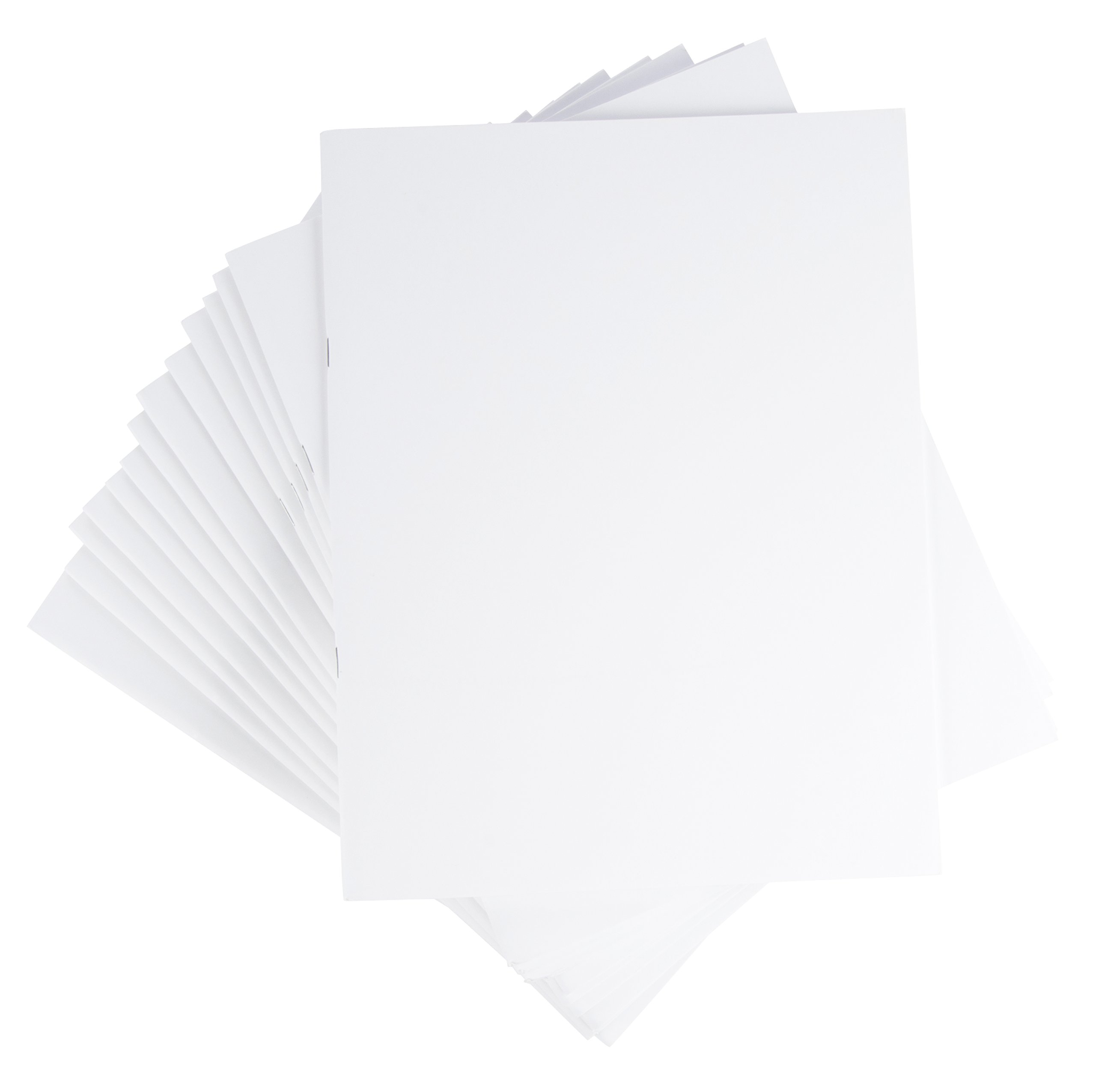 Blank Notebook - 24-Pack Unlined Books, Unruled Plain Travel Journals for Home, Office, School, White, 8.5 x 11 Inches, Letter Sized, 24 Sheets Each