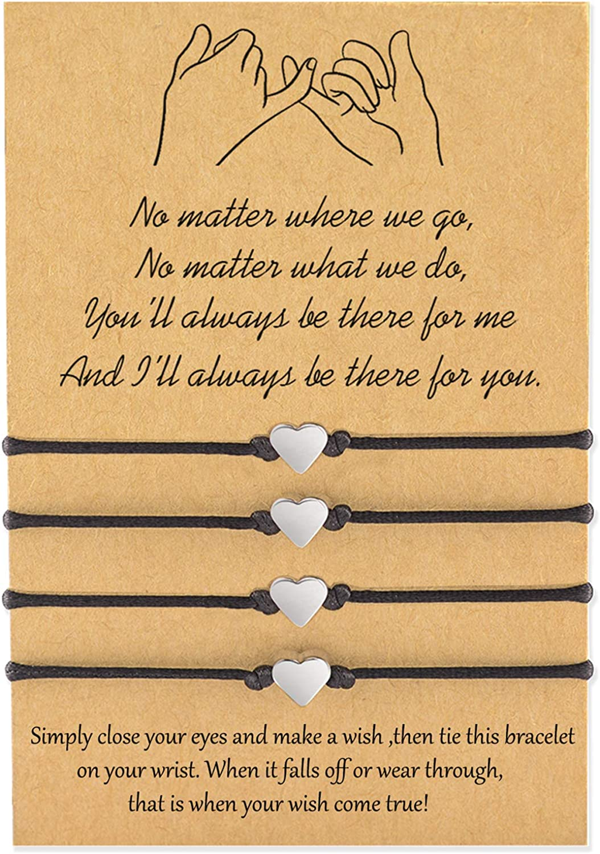 Set of Two Bracelets Promise Bracelet Wish Bracelet Best Friend Bracelet Friendship Bracelet Pinky Promise Wish Bracelet