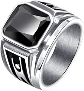 Stainless steel ring for men platinum plated 2411 -3