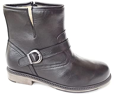 Ogswideshoes Diana Black Leather Boots Extra WideC Width 3e Width
