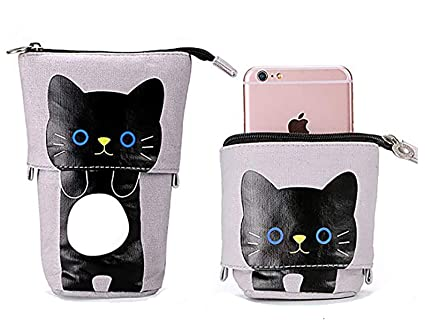 02dc9b02d08 Amazon.com : Cute Cat Pencil Case Box Pouch Bag for Kids ...