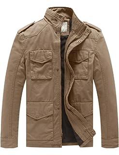 Blouson Veste Coton Style Classique En Homme Léger Militaire Wenven ZvpwOqxB