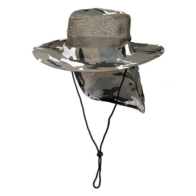 Cap911 Unisex Summer Boonie Mesh Bucket Flap Hats at Amazon Men s ... 3c00b773f81