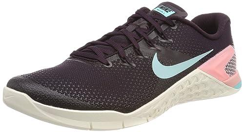 Nike Metcon 4, Zapatillas de Deporte para Mujer, (Burgundy Ash/Aurora Green/Sail/Pink Tint 632) 42 EU: Amazon.es: Zapatos y complementos