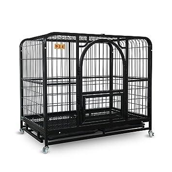 Home Pet Cage, potente jaula para perros Potente jaula de metal y caja grande para