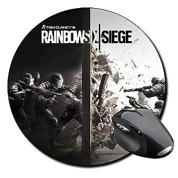 Tapis De Souris Rond Rainbow Six Siege Tom Clancy Amazon Fr