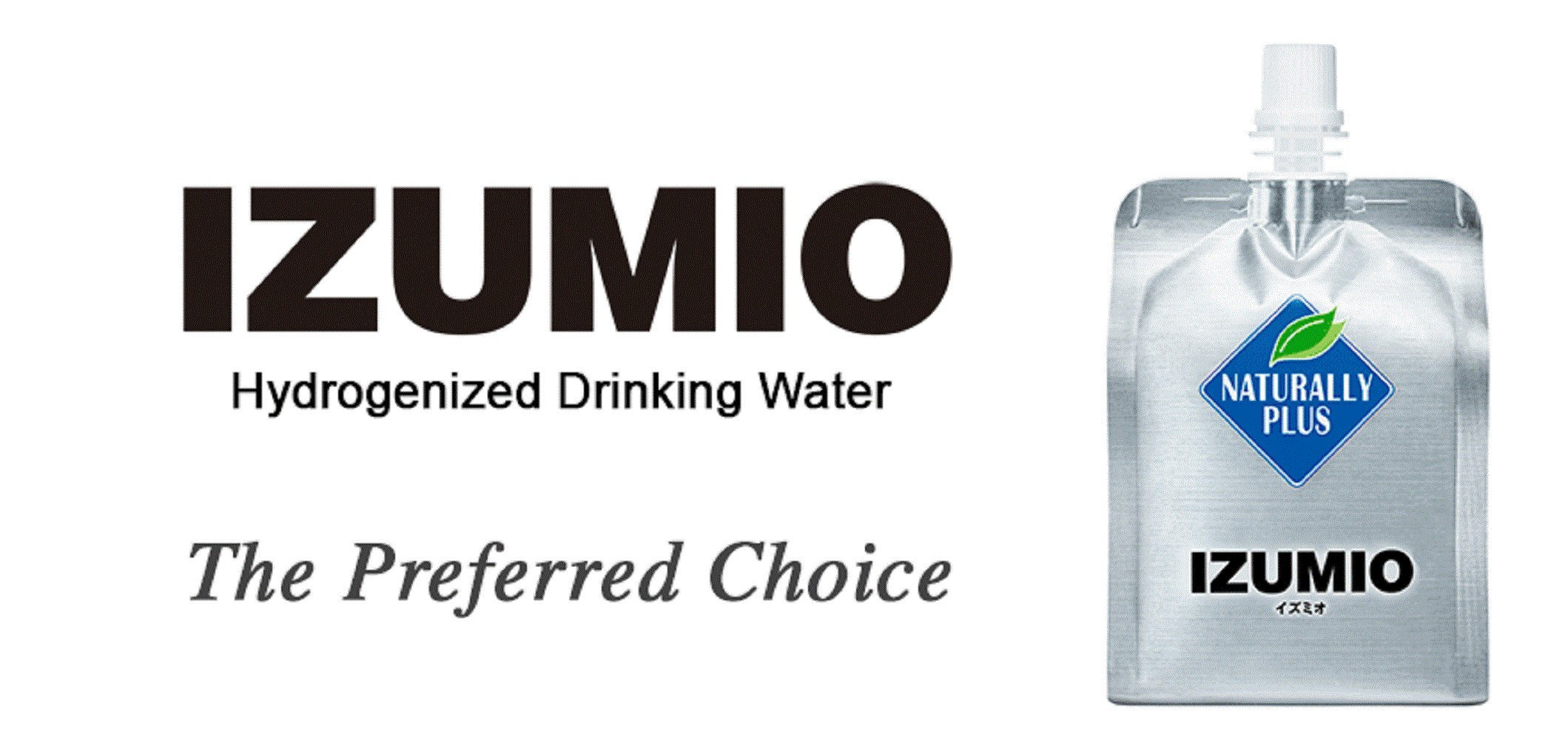 IZUMIO Hydrogen Infused Water, Pure Drinking Water (30 Pack Spout)