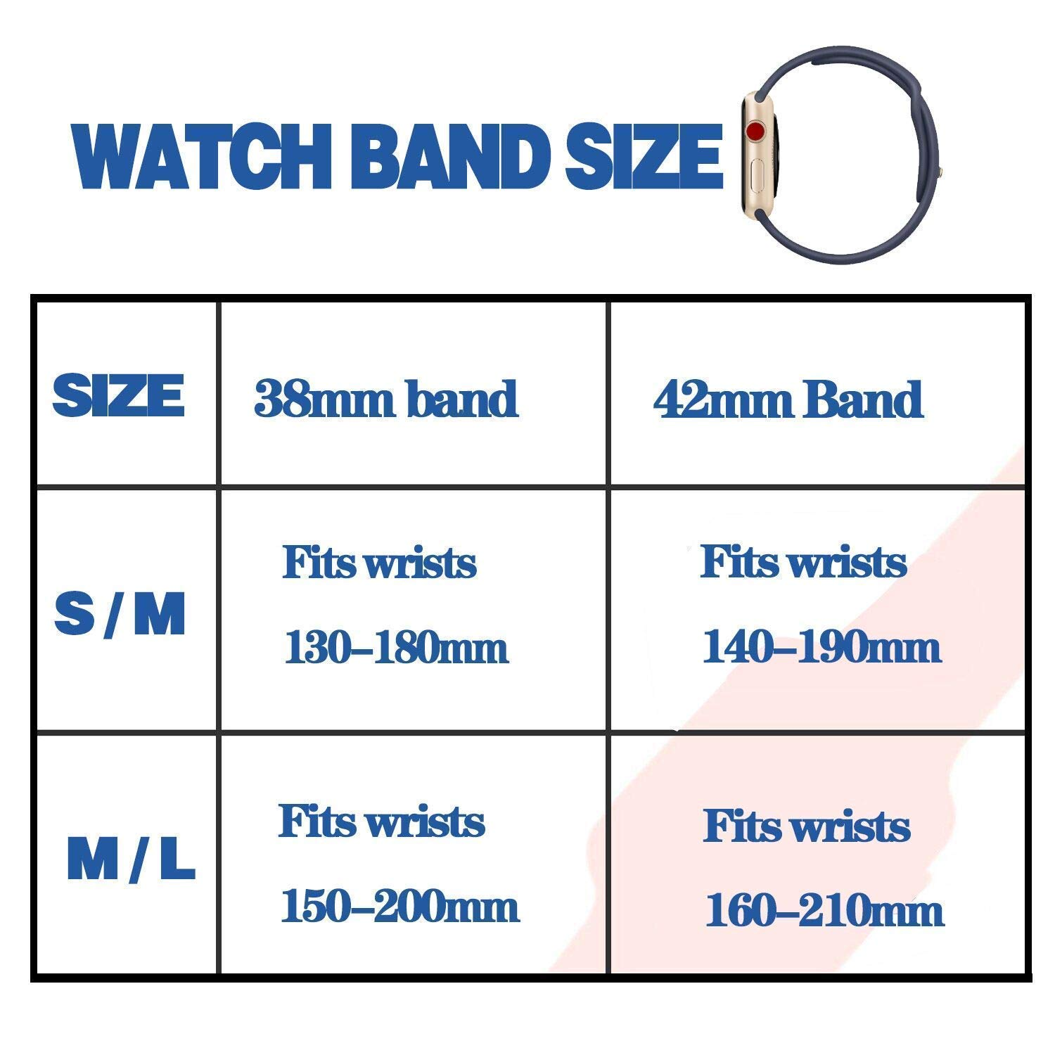 VATI Sport Band Compatible for Apple Watch Band 38mm 40mm 42mm 44mm Soft Silicone Sport Strap