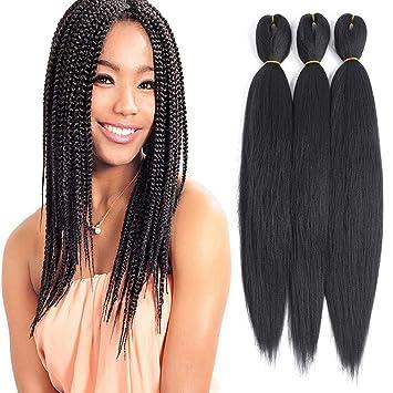 Befunny 8packs 16 Inch Pre Stretched Braiding Hair Short Black Crochet Human Hair For Braids Or Twist