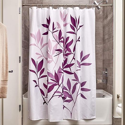 InterDesign Leaves Cortina de ducha | Cortina de baño de diseño de ...