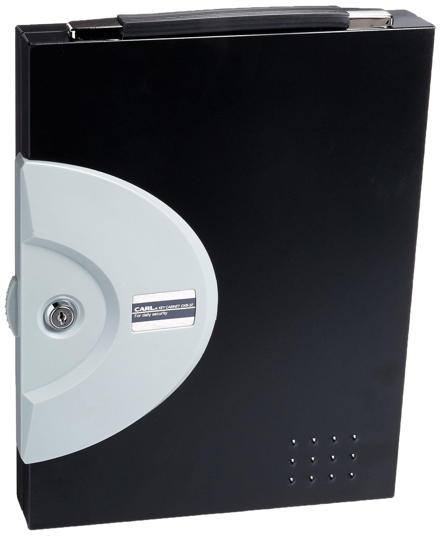 CARL CKB-32 32 Key Locking Cabinet, Black