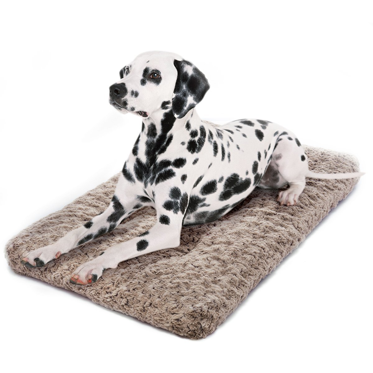perpets Dog Bed Ultra Soft Crate Pad Home Washable Mat for Dogs and Cats Crate (42-inch, Mocha)