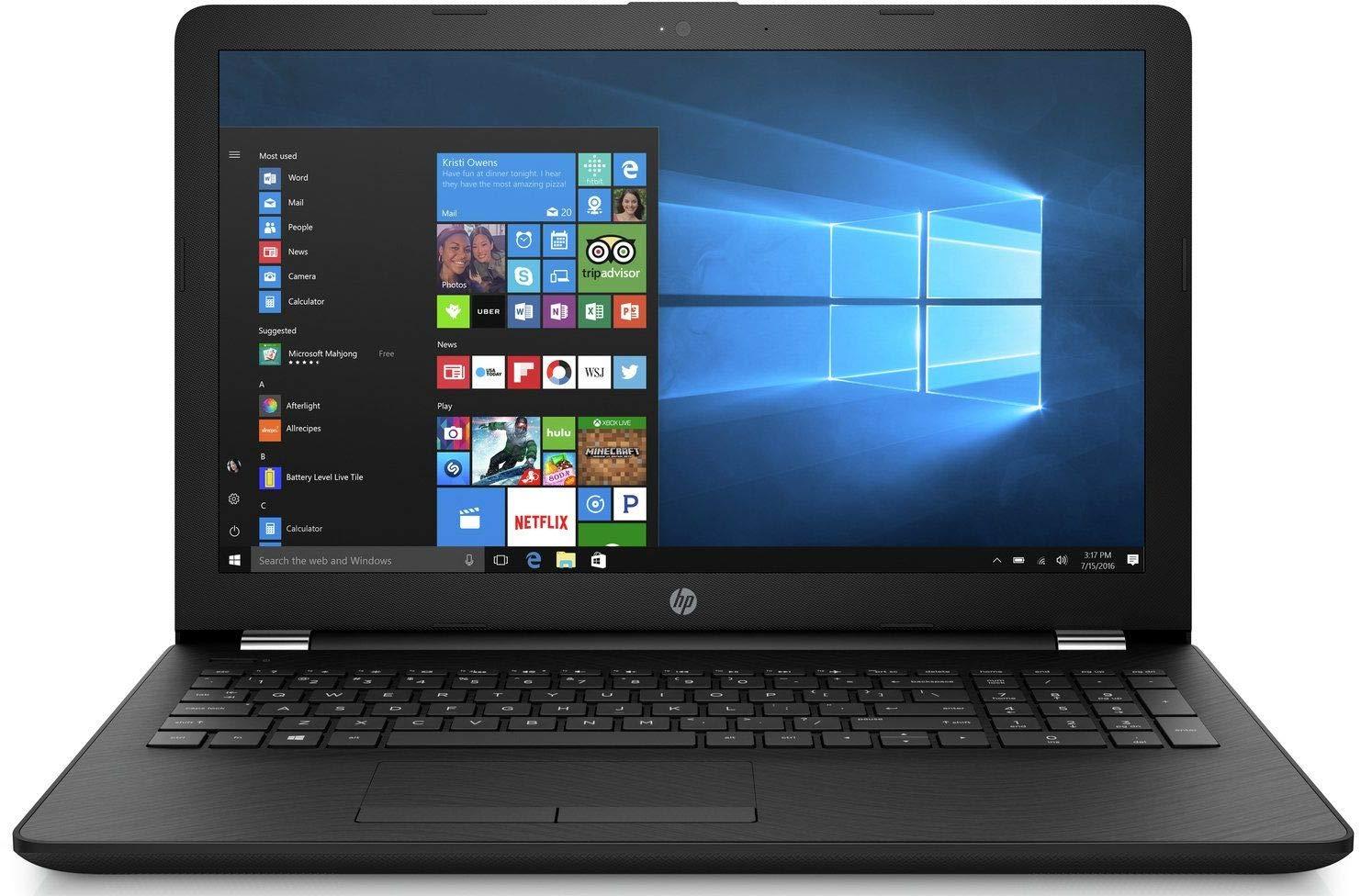 HP 15q-bu015TU 2018 15.6-inch HD Laptop (Intel Pentium N3710/4GB RAM/1TB HDD/Windows 10 Home/Intel HD Graphics), Sparkling Black