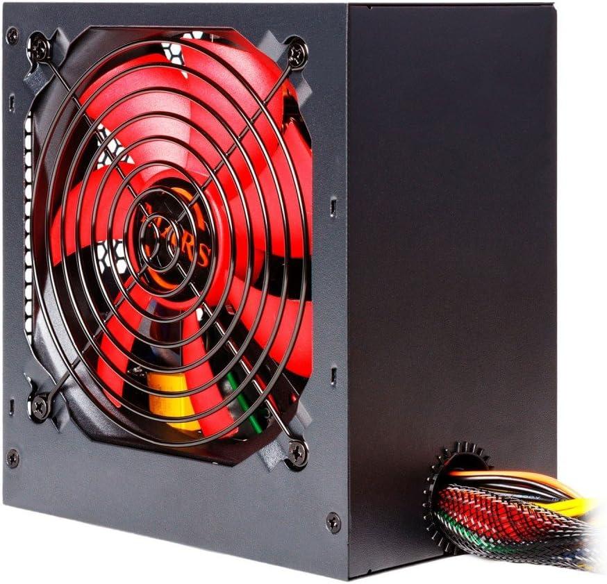 Mars Gaming MPII550, Fuente PC 550W, ATX, Ventilador 12cm, 85% Eficiencia