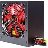 Mars Gaming MPII550 - Fuente de alimentación gaming para PC (550W, ATX, ventilador 12cm, PFC activo, rail único 12V, 14dB, eficiencia 85+, ventilador ultrasilencioso y antivibraciones), color negro