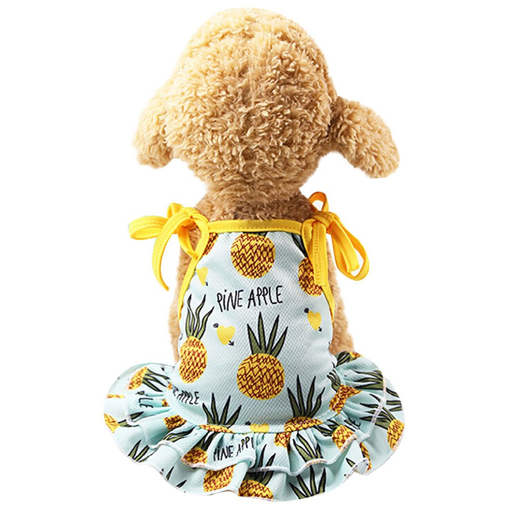 Pet Couples Dress,Dog Princess Lovely Summer Dress Puppy Vest Small Dog Cat T-Shirt Pet Clothes for Couple Yamally