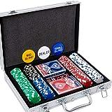 Yinlo Poker Chip Set - 200PCS / 300PCS Poker Set with Aluminum Case, 11.5 Gram Casino Chips for Texas Holdem Blackjack…