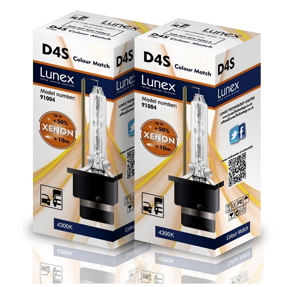 Lunex D4S Xenarc Phare Lampe au xé non ampoule de rechange (6000K) 91014
