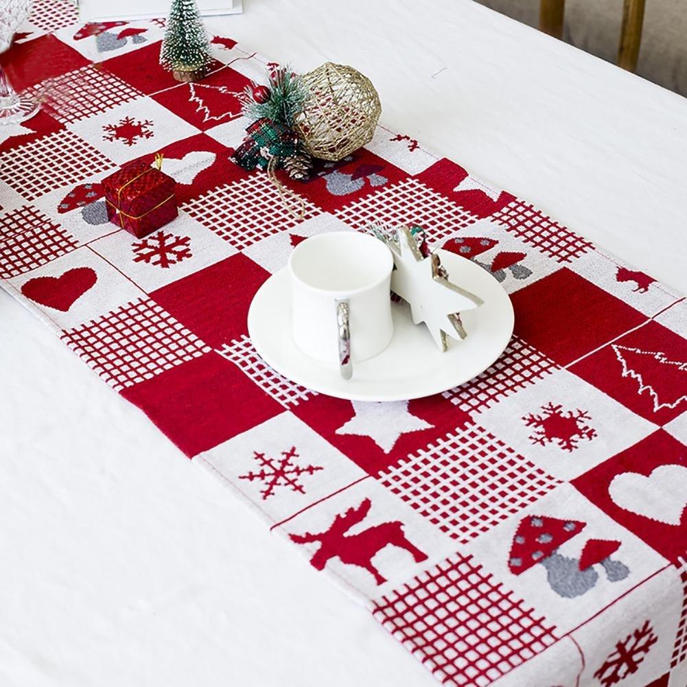 Supertop 35 * 170 cm Weihnachten Leinen Tischdecke Tischläufer ...