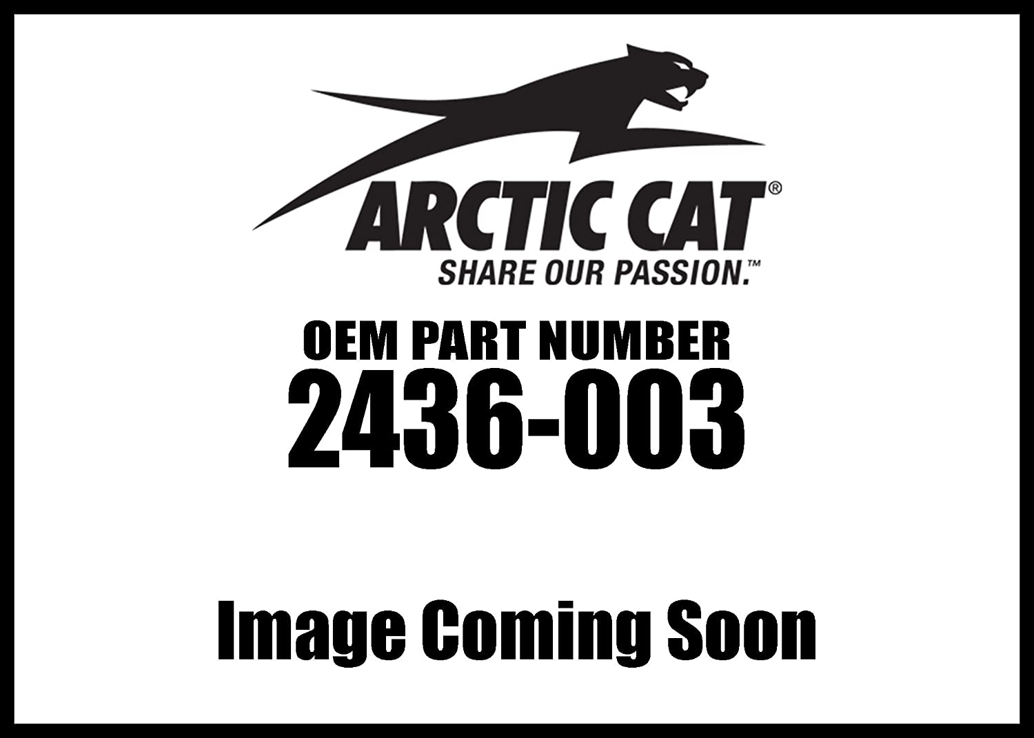 OEM Arctic Cat Front Fender Flares 2014-2017 Wildcat Trail ONLY 2436-003
