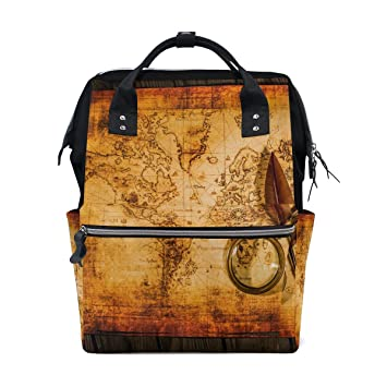 Amazon vintage old world map mommy bag mother bag travel vintage old world map mommy bag mother bag travel backpack diaper bag daypack nappy bags for gumiabroncs Image collections