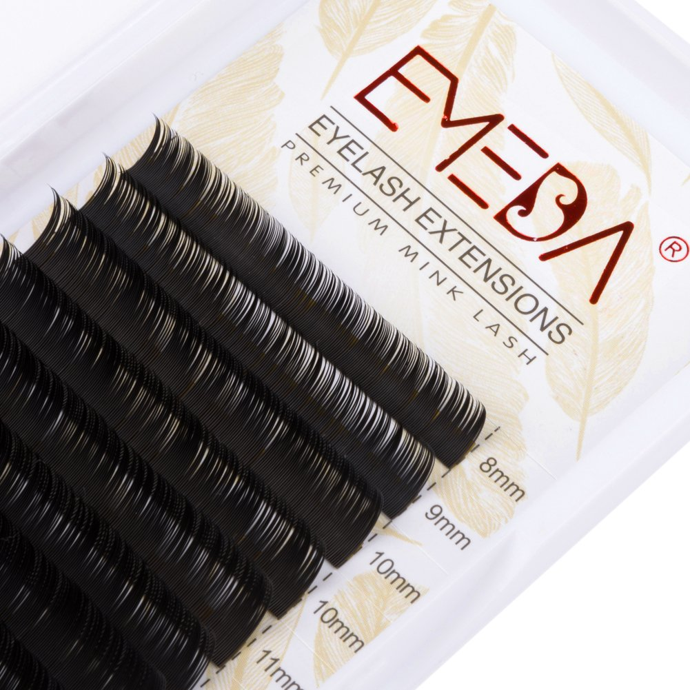 EMEDA Mink Lash Extension C Curl Eyelash Extensions Individual Lashes Strip .05 Thickness Mix Length Lashes Tray