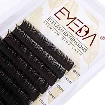 78b63574894 Faux Mink Lash Extension C Curl Eyelash Extensions Individual Lashes Strip  .05 Thickness 8 9 10 11 12 13 14 15mm Mix Length Lashes Tray by EMEDA:  Amazon.ca: ...