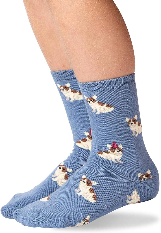 Hot Sox boys Kids Birthday Frenchie Crew Socks Casual Sock