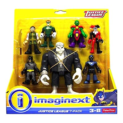 Fisher Price Imaginext DC Comics Justice League Action Figure 7-Pack: Toys & Games