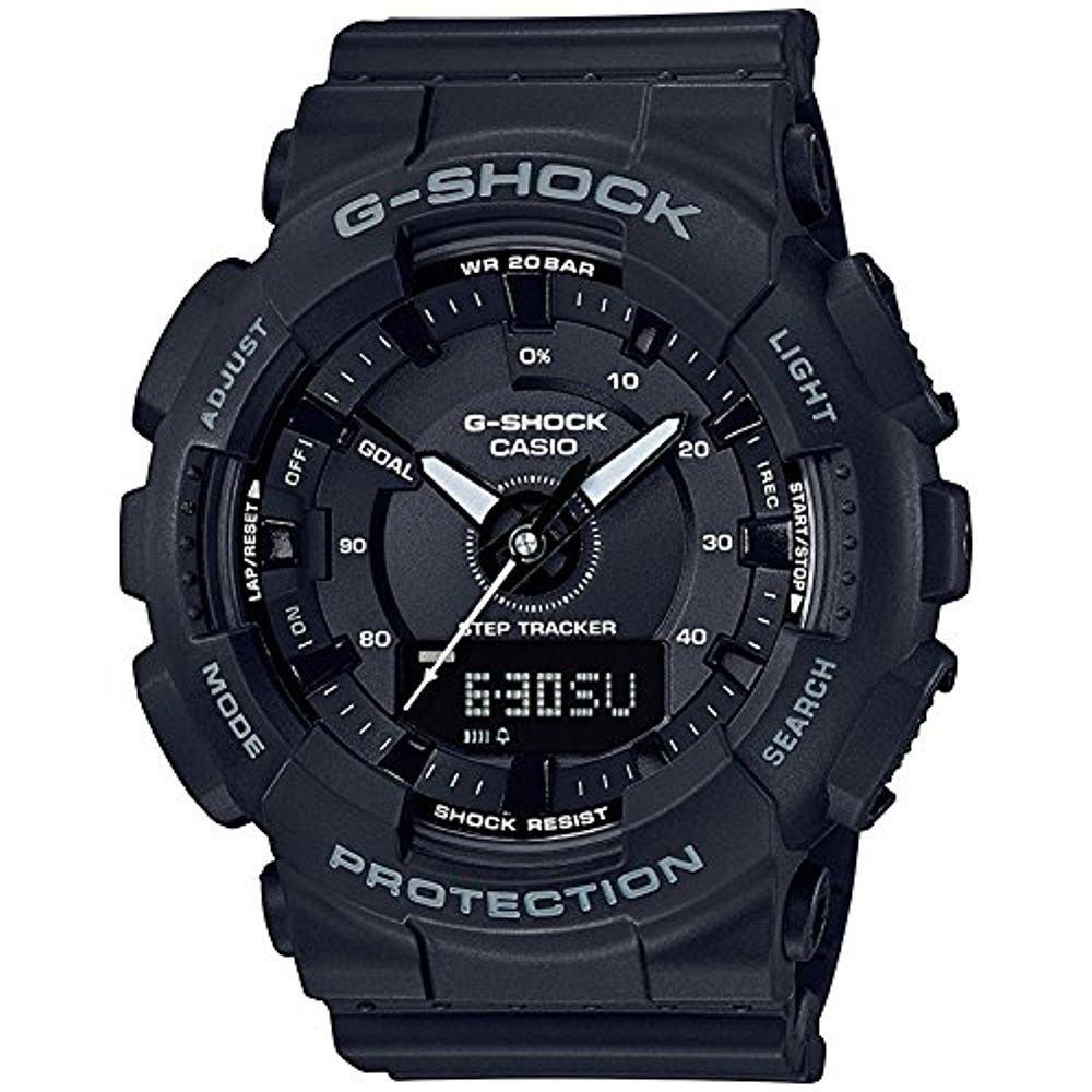 Ladies' Casio G-Shock S-Series Black Step Tracker Watch GMAS130-1A by Casio (Image #1)
