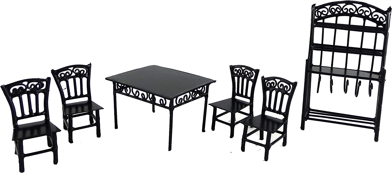 Aztec Imports, Inc. Dollhouse Miniature 1/24 Scale 6-Pc. Seagrove Dining Set