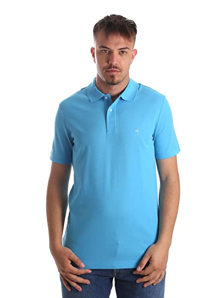 Calvin Klein K10K102758 Polo Hombre Azul XS: Amazon.es: Ropa y ...