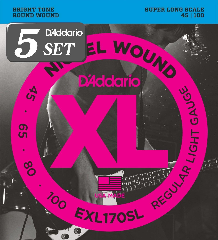 D'Addario ダダリオ ベース弦 ニッケル Super Long Scale .045-.100 EXL170SL x 5セット 【国内正規品】 B009RIK8RQ .045-.100 (SuperLong).045-.100 (SuperLong)