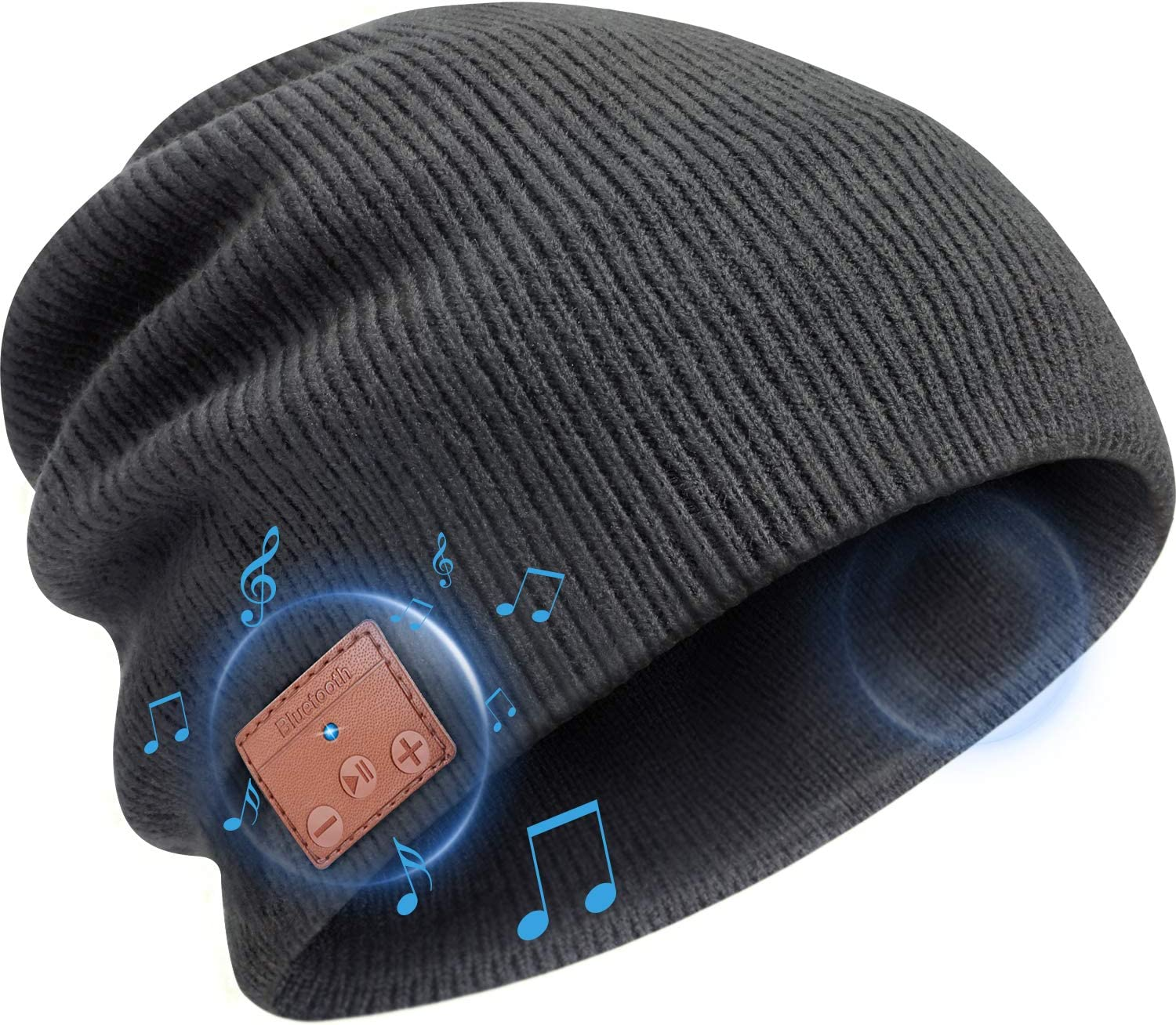 Upgraded Bluetooth 5.0 Music Hat Bluetooth Beanie Hat Teens Gifts for Men and Women Wireless Headphone Built-in HD Stereo Speakers for Christmas Stocking Stuffers