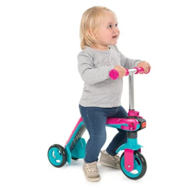 Smoby Reversible 2 in 1 Scooter, Pink: Toys & Games