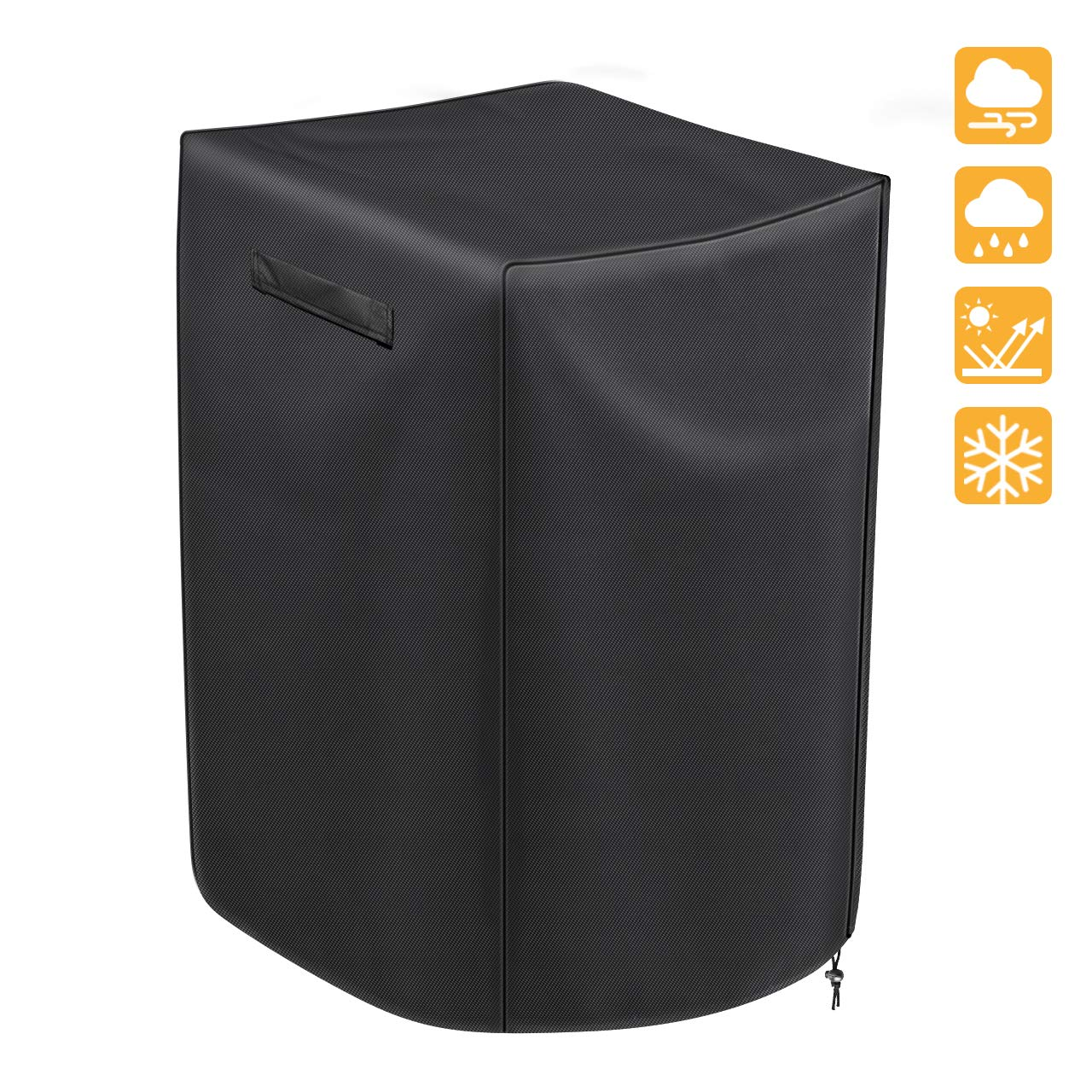 iCOVER 30 Inch Electric Smoker Cover Square, Weather-Resistant Polyester for Outdoor Use, Fits Masterbuilt, Char-Broil, Cuisinart, Dyna-Glo and More Grills