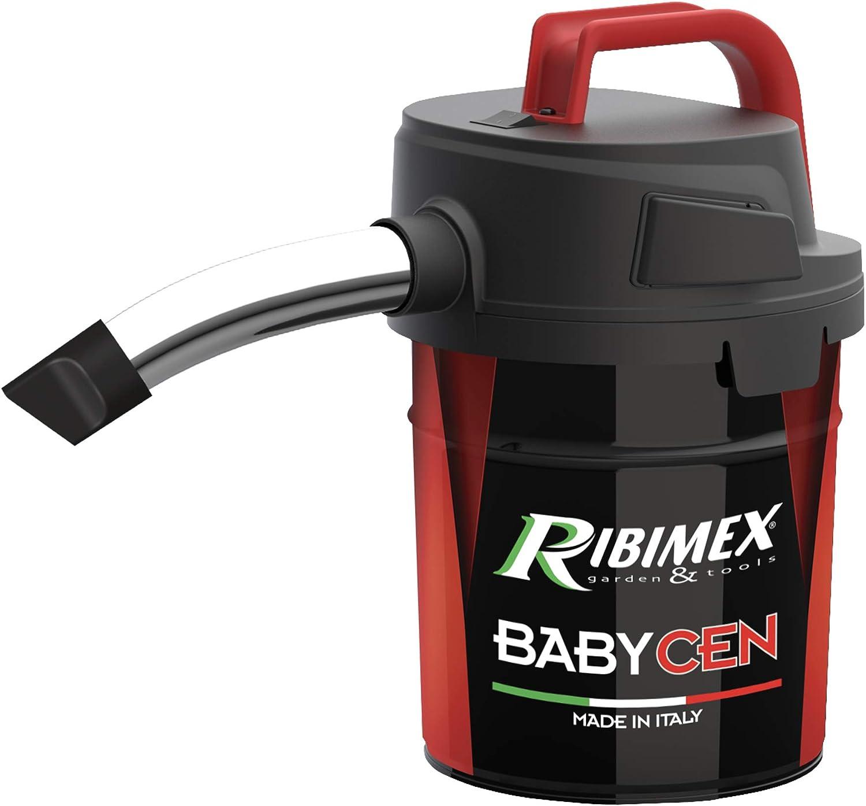 RIBIMEX Aspirador de Cenizas eléctrico, Metal, Aspiracenere Elettrico Babycen Aspirazione Potent