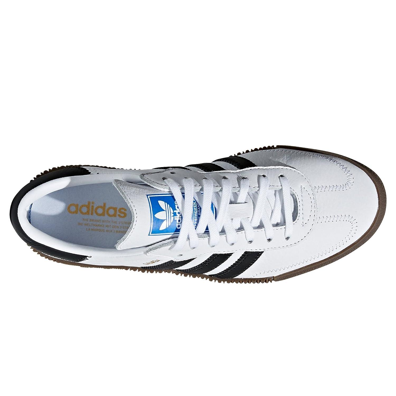 the best attitude 2decb c75e8 adidas Originals Samba Blanc et Noir Pantoufles pour Femmes avec Plate-Forme.  Sports Sneaker  Amazon.fr  Chaussures et Sacs