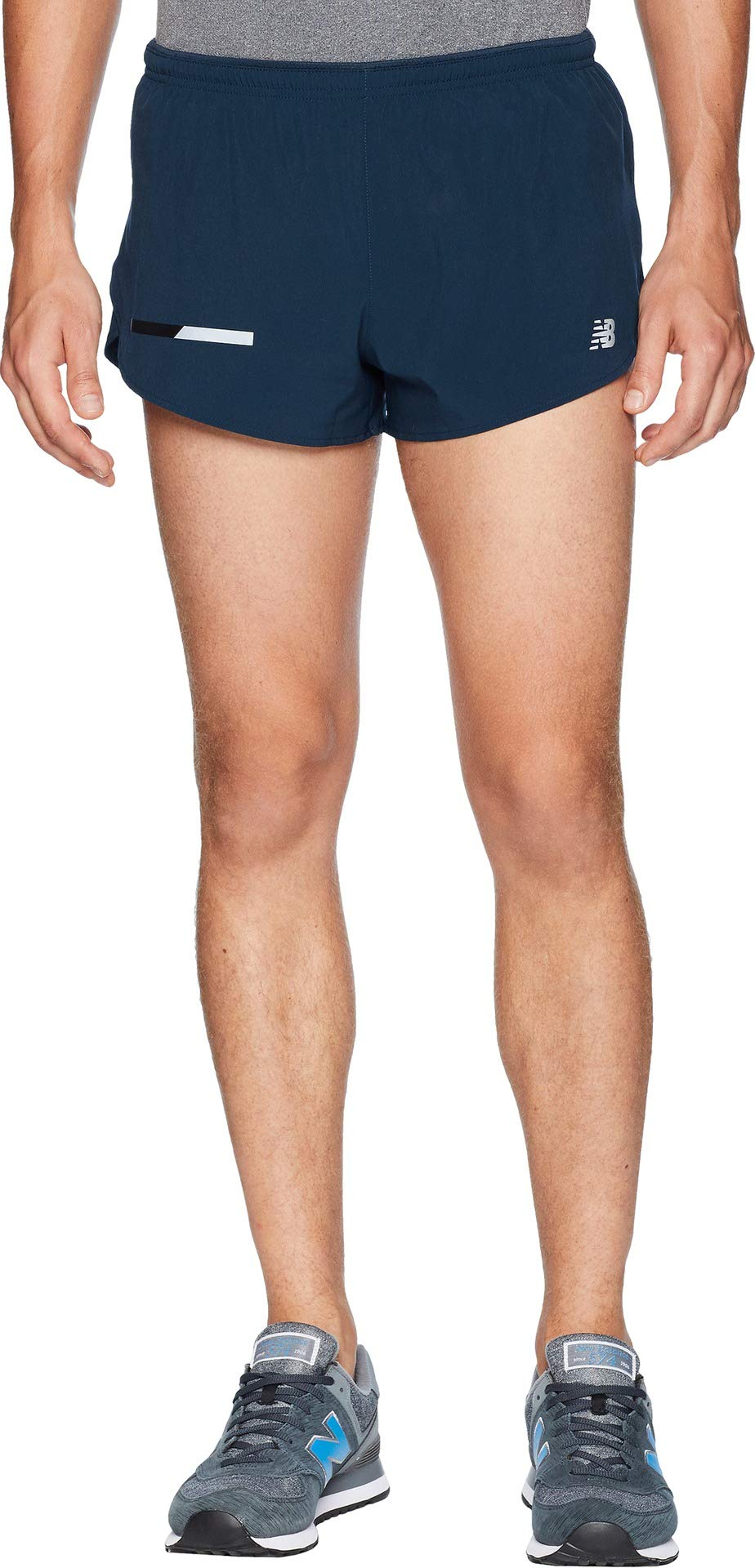 New Balance  Men's Impact Split Shorts 3'' Galaxy X-Large 3 by New Balance (Image #1)